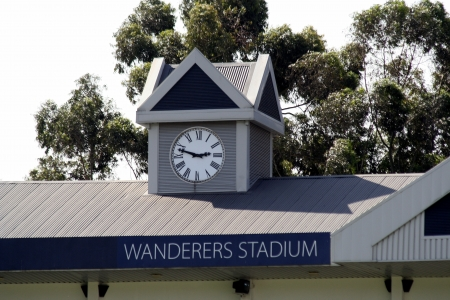 wanderers: Clock tower at Wanderers Stadium in South Africa Editorial