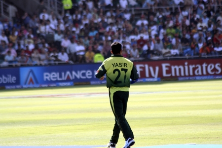wanderers: Yasir fielding against Pakistan in 2007