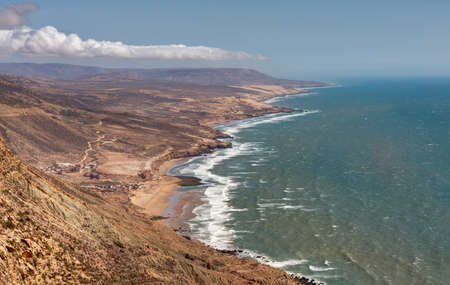 village and landscapes of Imsouane north of Agadir - Morocco