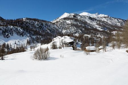 Alpine landscape - Nevache under the snow