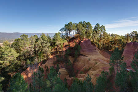 Landscape of Provence - The ochres of Roussillon in the Luberon - Vaucluse