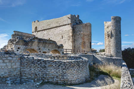 Landscape of Provence - The castle of Thouzon - Le Thor en Vaucluse
