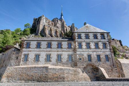 View of Mont Saint-Michel in Normandy-La gendarmerie