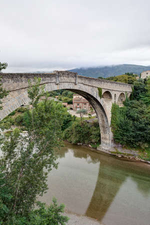Landscape of the Eastern Pyrenees - Occitanie - Le Pont du Diable - Céret