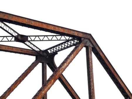 structure: steel bridge structure on white background