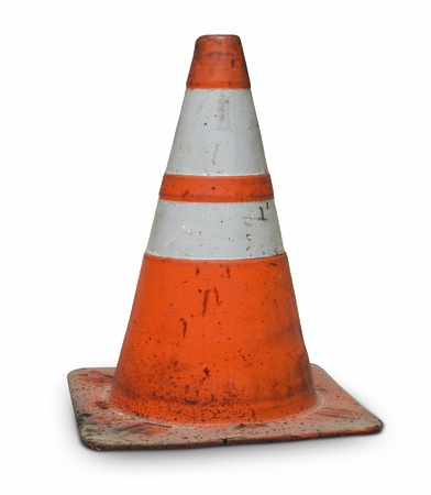 real dirty traffic cone