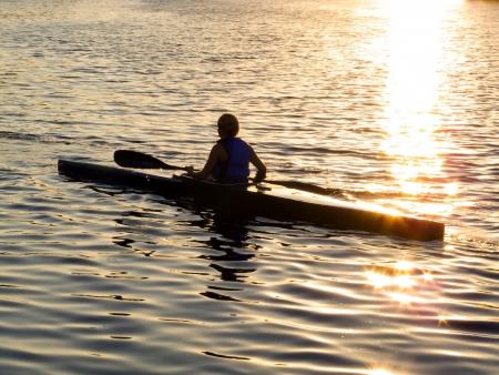 kayak sunrise Editorial