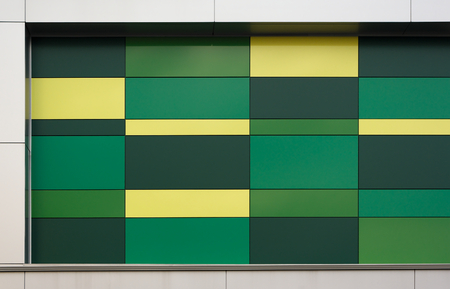 mondrian: green and yellow background