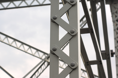 details: beams metallic structure iron architecture bridge detail
