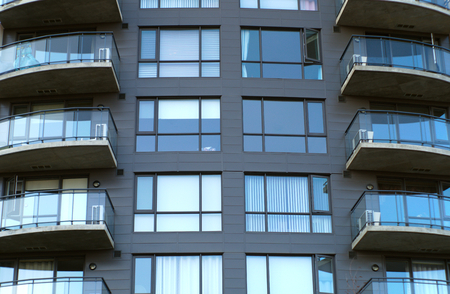 residential: apartments building residential condo balconies structure urban facade