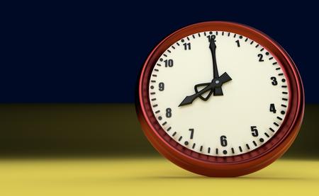 oclock: big clock deadline rush time eight oclock 3D illustration