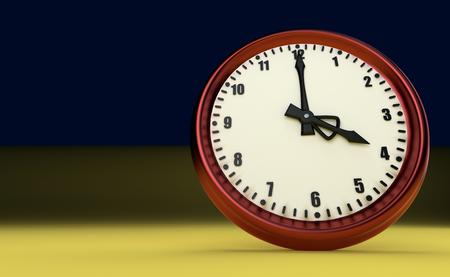 big clock deadline rush time four oclock 3D illustration Stock Photo