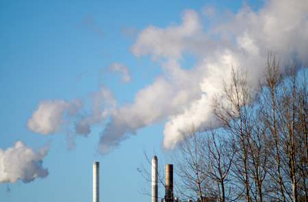 clouds of smoke pollution factory environment global warming Stock Photo - 74257904