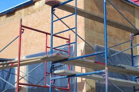scaffolding construction site building restoration  Stock Photo