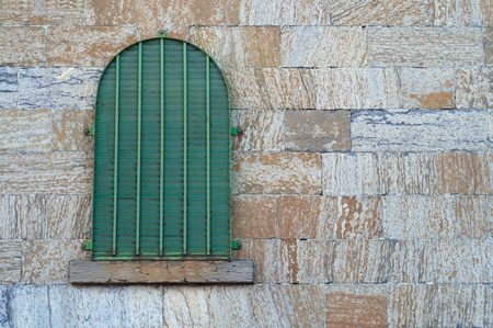 lattice window: jail window old stone wall gothic building dungeon