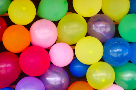 round balloons surprise decoration multicolor background