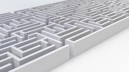maze labyrinth business challenge problem strategy 3D illustration