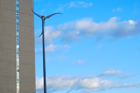 wind turbine eolian sckyscraper city power electricity environment