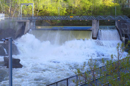 hydroelectric dam power electricity river powerplant environment