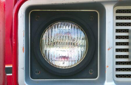 truck light red bumper round headlight red 免版税图像