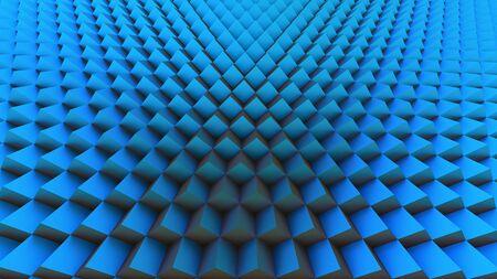blue cubes 3D illustration background texture geometry Фото со стока