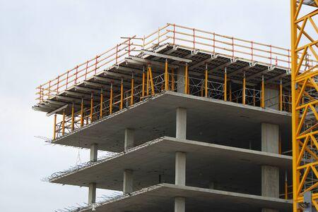 struttura di sviluppo dei lavori di costruzione in calcestruzzo del cantiere Archivio Fotografico