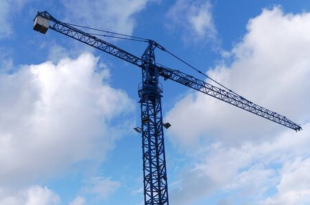 crane on construction site for lifting heavy equipment