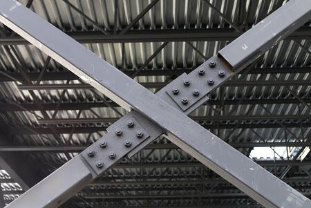 x beam construction site cross metal frame structure