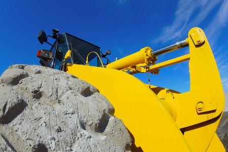 construction site excavation machine yellow backhoe digger