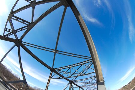 bridge metal structure beam transportation infrastructure