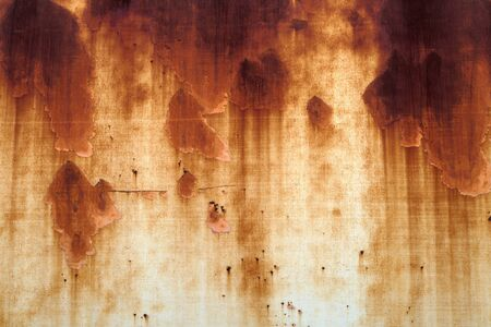 rust stain metal corrosion brown chipped messy grunge background