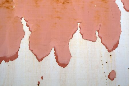 rusty chipped pink paint metal texture background rust that looks like a map