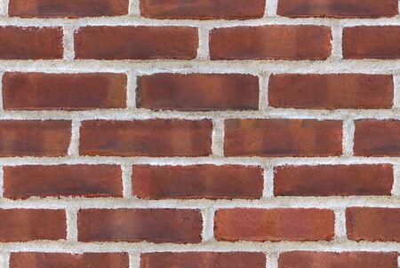 seamless brick texture wrap around pattern red wall Stock Photo