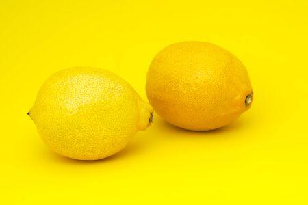 lemon yellow background sour fruit juicy vitamin