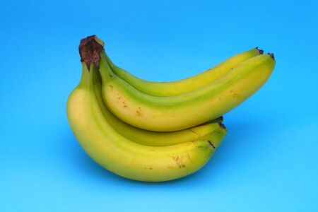 bunch of banana on blue background