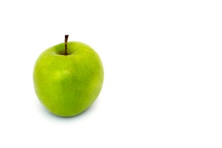 granny smith green apple on white background isolated