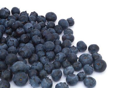 blueberries on white background fresh organic berry fruit Stock Photo