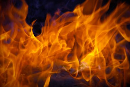fire flames burning background hot hell  Stock Photo