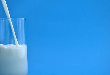 glass of milk healthy nutrition fresh dairy product