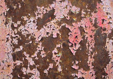 rust metal peeling paint rough cracked background Stok Fotoğraf