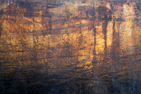 rusty paint heavy metal yellow background grunge texture