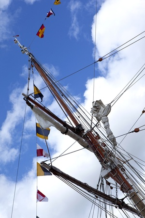 masts: Masts and sails of a tall ship