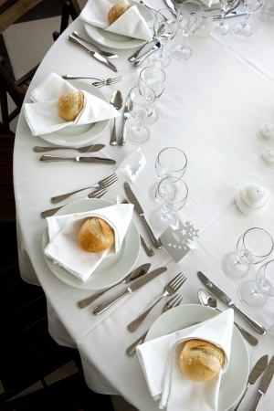 Table set in a luxury restaurant