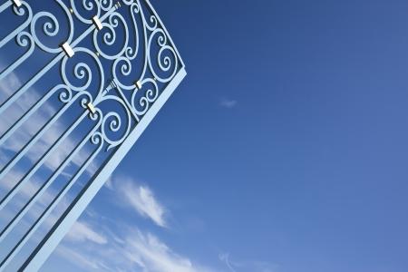 Smeedijzeren poort in St Emilion