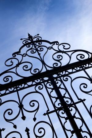 iron gate: Wrought iron gate
