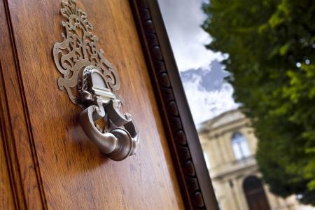 Door knocker on a monument in Bordeaux, France
