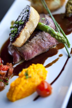 Beef fillet, foie gras and vegetable