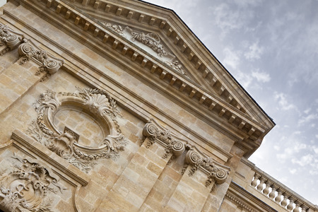 patrimony: Facade of an old hospital in Bordeaux, France
