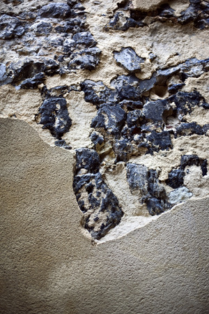 plastered: Damages plastered wall Stock Photo