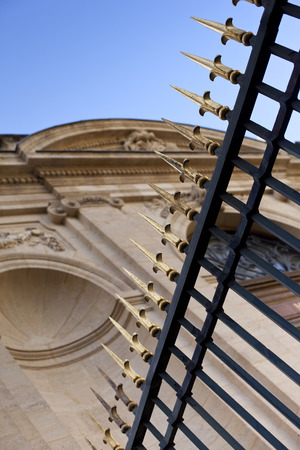 patrimony: Facade of a classic building in Bordeaux, France Stock Photo